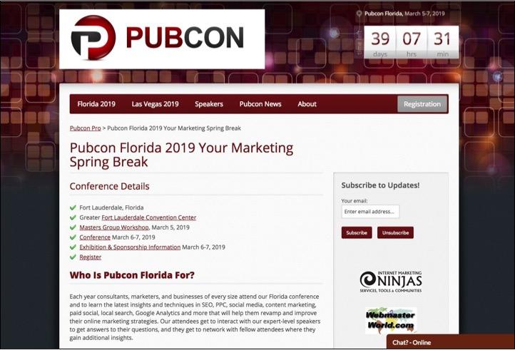 Pubcon Florida